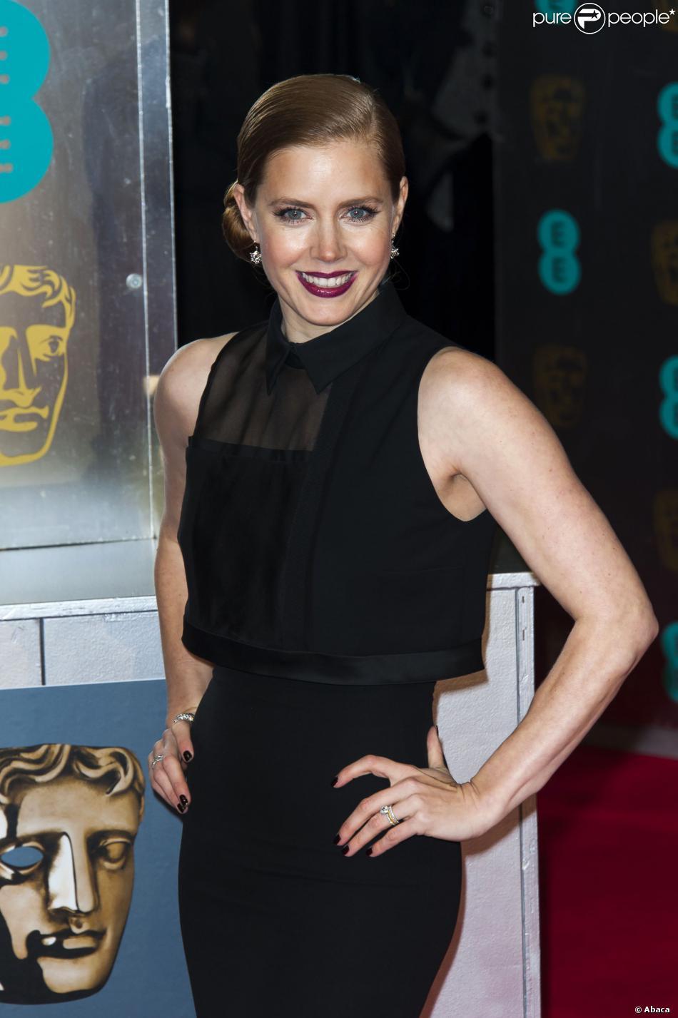 Amy Adams lors de la cérémonie des BAFTA à Londres le 16 février 2014