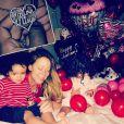 Mariah Carey a passé la Saint-Valentin avec ses enfants Monroe et Moroccan. Le 14 février 2014.