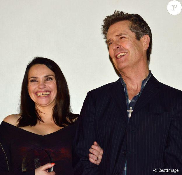 """Rupert Everett et Béatrice Dalle lors de la première du film """"Rosenn"""" dans le cadre de la 30ème édition du festival International du film d'amour à Mons en Belgique le 17 février 2014."""