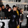 """Lily Allen arrive à la cérémonie des """"Brit Awards 2014"""" à Londres, le 19 février 2014."""