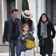 Exclusif - Courteney Cox avec sa fille Coco Arquette et son petit ami Johnny McDaid à Venise en Italie, le 16 février 2014.