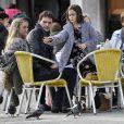 Exclusif - Johnny McDaid avec Coco, la fille de sa petite amie Courteney Cox à Venise en Italie, le 18 février 2014.