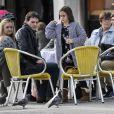 Exclusif - Johnny McDaid se promène avec Coco la fille de de sa petite amie Courteney Cox à Venise en Italie, le 18 février 2014.