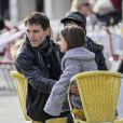 Exclusif - Johnny McDaid se promène avec Coco la fille de sa petite amie Courteney Cox à Venise en Italie, le 18 février 2014.