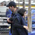Courteney Cox avec sa fille Coco et son petit ami Johnny McDaid à Venise en Italie le 20 février 2014.
