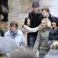 Courteney Cox avec sa fille Coco et son petit ami Johnny McDaid à Venise en Italie, le 20 février 2014.