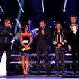 Les coachs et Nikos Aliagas dans The Voice 3, le samedi 22 février 2014 sur TF1