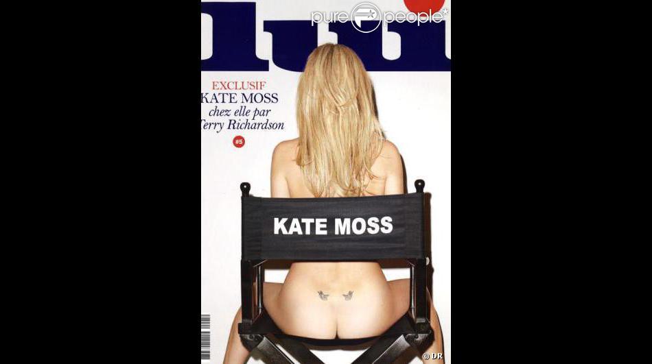 Kat Moss en couverture du magazine Lui. Février 2014.