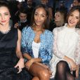 Miranda Kerr, Jourdan Dunn et Jessica Alba au défilé H&M au Grand Palais à Paris, le 26 février 2014.