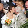 Thierry Olive et Annie, à Gavray, en septembre 2012 pour leur mariage.