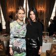 Exclusif - Eugenie Niarchos et Julia Restoin Roitfeld -Déjeuner Samsung X Carine Roitfeld, (déjeuner avec comme thème technologie et monde de la mode), à Paris le 1 mars 2014