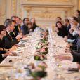 Exclusif - Déjeuner Samsung X Carine Roitfeld, (déjeuner avec comme thème technologie et monde de la mode), à Paris le 1 mars 2014 -