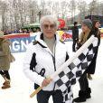 Bernie Ecclestone à la Kitz Charity Race de Kitzbuhel en Autriche le 25 janvier 2014