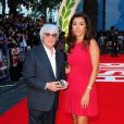 Bernie Ecclestone et son épouse Fabiana Flosi à l'Odeon Leicester Square de Londres, le 2 septembre 2013