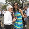 Bernie Ecclestone et Fabiana Flosi lors du Grand Prix de Monaco le 27 mai 2012