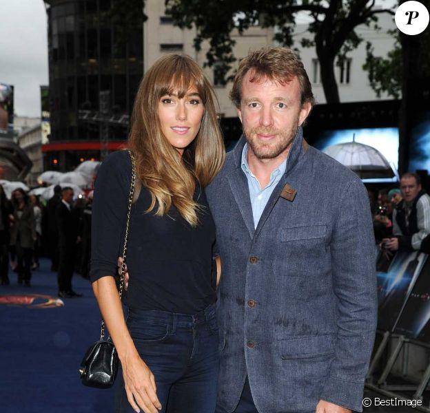 Guy Ritchie et sa fiancée Jacqui Ainsley à Londres, le 12 Juin 2013.