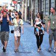 Guy Ritchie, Jacqui Ainsley et leur enfants en balade à Rome, le 3 octobre 2013/