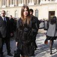 Adèle Exarchopoulos arrive au défilé de mode, collection prêt-à-porter automne-hiver 2014/2015, de Louis Vuitton à Paris, le 5 mars 2014.