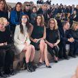 Exclusif - Charlotte Gainsbourg, Chiara Mastroianni, Catherine Deneuve et plus loin Isabelle Huppert au défilé Louis Vuitton à Paris, le 5 mars 2014.
