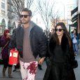 Scott Disick et Kourtney Kardashian à New York, le 22 février 2014.