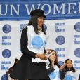 Naomi Campbell participe à la marche contre les violences faites aux femmes, à New York, le vendredi 7 mars 2014.