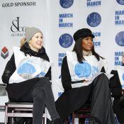 Naomi Campbell et Kelly Rutherford, révoltées mais motivées, battent le pavé