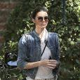 Kendall Jenner a accompagné sa soeur Kourtney et ses deux enfants (Mason et Penelope) à une fête d'anniversaire. Los Angeles, le 8 mars 2014.