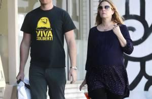 Drew Barrymore très enceinte : En balade avec son chéri et leur fille Olive