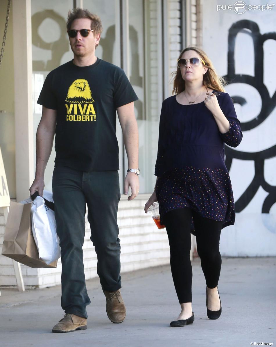 Drew Barrymore très enceinte : En balade avec son chéri et ... Drew Barrymore Divorce