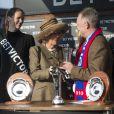 Camilla Parker Bowles, la princesse Anne, Zara Phillips ainsi qu'Autumn Phillips ont assisté à une course hippique à Cheltenham, le 12 mars 2014.