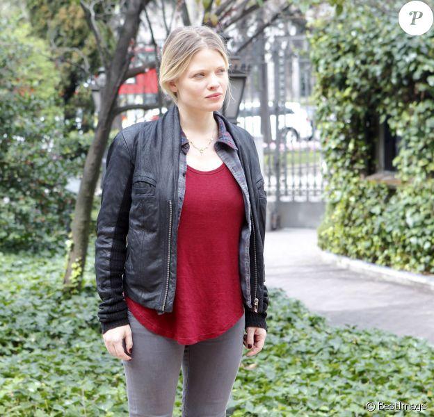 Mélanie Thierry lors du photocall du film A perfect day à Madrid, le 14 mars 2014.