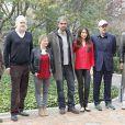 Tim Robbins, Mélanie Thierry, Fernando Leon, Olga Kurylenko, Benicio Del Toro et Fedja Stukan lors du photocall du film A perfect day à Madrid, le 14 mars 2014.