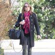 Liz Hurley se promène à Londres, le 7 février 2014.