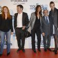 """Jean Gachassin (2e en partant de la droite) lors de l'avant-première du film """"De Toutes Nos Forces"""" au Gaumont Opéra à Paris, le 17 mars 2014"""