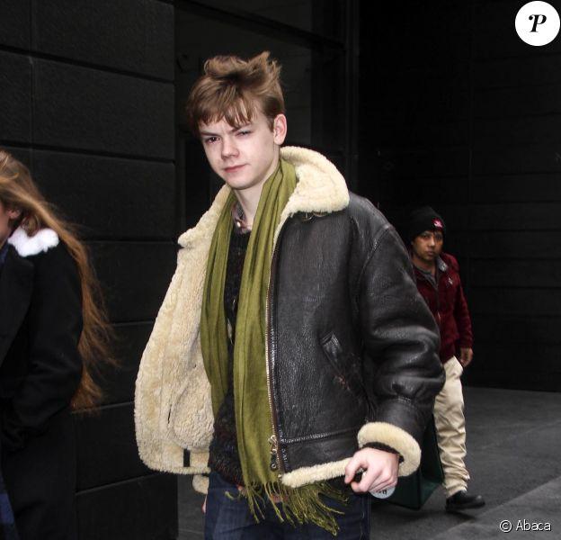 Thomas Sangster à New York le 19 mars 2014.