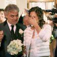 Andrea Bocelli et Veronica Berti ont célébré leur mariage dans l'intimité au sanctuaire de Montenero, à Livourne, en Italie, le 21 mars 2014. Leur petite Virginia, 2 ans, était présente et portait les alliances, tandis qu'Amos et Matteo, les fils issus du premier mariage du ténor, étaient chargés de faire des lectures lors de la cérémonie.
