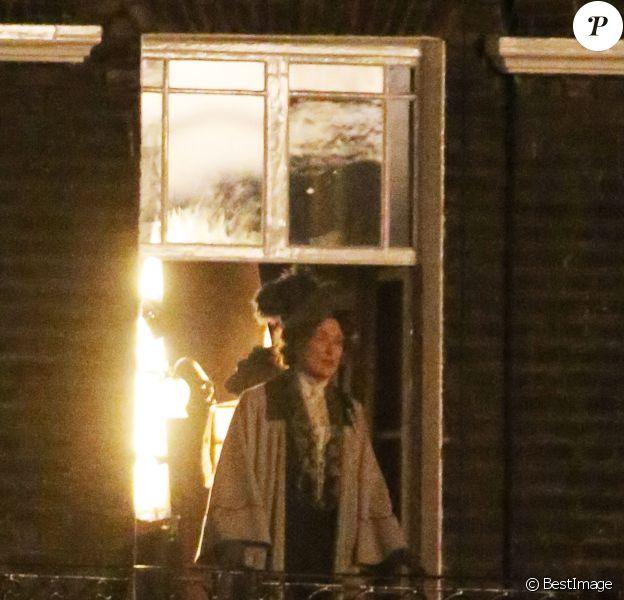 """Meryl Streep sur le tournage de """" Suffragette"""" à Londres le 24 mars 2014."""