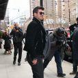 Robin Thicke à la sortie de l'hôtel Greenwich de Tribeca à New York le 25 mars 2014