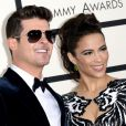 Robin Thicke et Paula Patton lors des 56e GRAMMY Awards au Staples Center de Los Angeles le 26 janvier 2014
