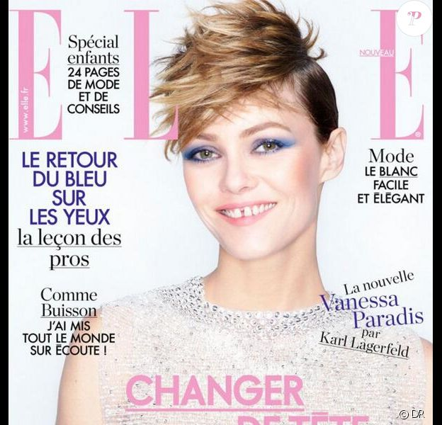 Vanessa Paradis en couverture du magazine Elle du 28 mars 2014