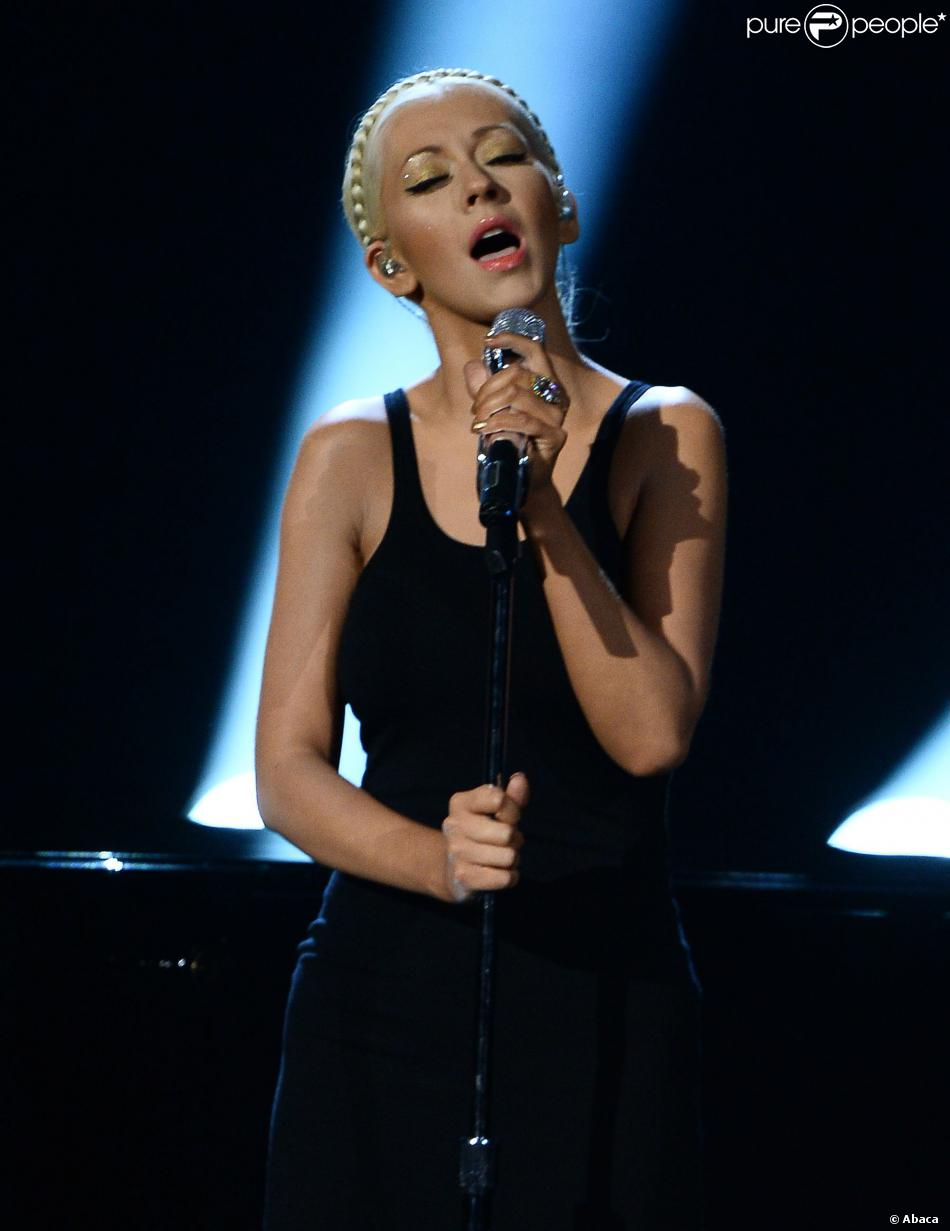 Christina Aguilera lors des American Music Awards à Los Angeles. Le 24 novembre 2013.