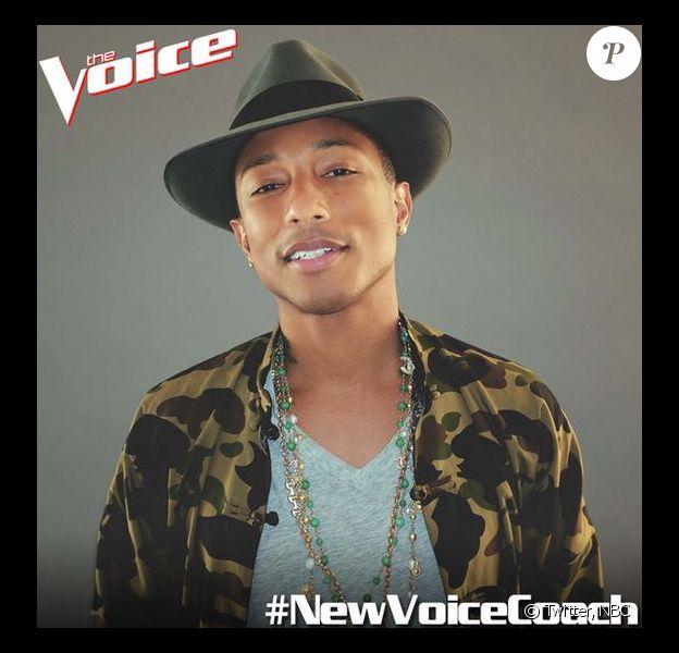 NBC a annoncé l'arrivée de Pharrell Williams dans la 7e saison de The Voice.