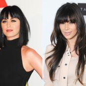 Katy Perry vs Kim Kardashian : La frange avec cheveux courts ou longs ?