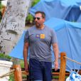 Steve Carell détendu pour quelques vacances avec sa femme Nancy et leurs enfants John et Elisabeth à Maui, Hawaï, le 30 mars 2014.