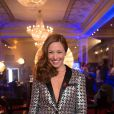 Exclusif - Natasha St Pier dans les coulisses du Sidaction 2014, le 25 mars 2014 au thêatre Mogador à Paris (diffusion le 5 avril 2014 sur France 2).