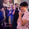 Exclusif - Alessandra Sublet dans les coulisses du Sidaction 2014, le 25 mars 2014 au thêatre Mogador à Paris (diffusion le 5 avril 2014 sur France 2).