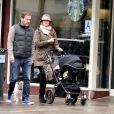 Exclusif - La princesse Madeleine de Suède, son mari Chris O'Neill et leur fille Leonore se promènent dans les rue de New York le 29 mars 2014.29/03/2014 - New York City