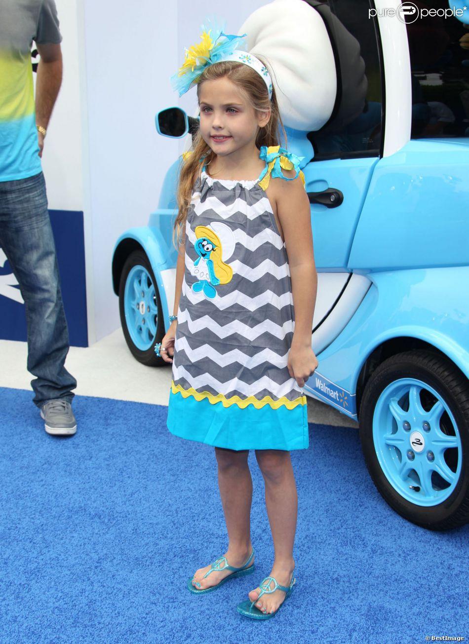 """Dannielyn Birkhead (la fille de Anna Nicole Smith) lors de la première du film """"Les Schtroumpfs 2"""" à Westwood, le 28 juillet 2013."""