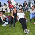 Laure Manaudou et son frère Florent Manaudou au jumping international de Cagnes-sur-mer, le GPA Jump Festival, le 29 mars 2014.