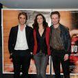 Samuel Benchetrit, Yann Goven et Anna Mouglalis lors de l'avant-première du film Un voyage à Paris le 10 avril 2014